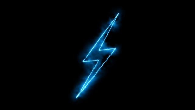 AMP icon blue on black