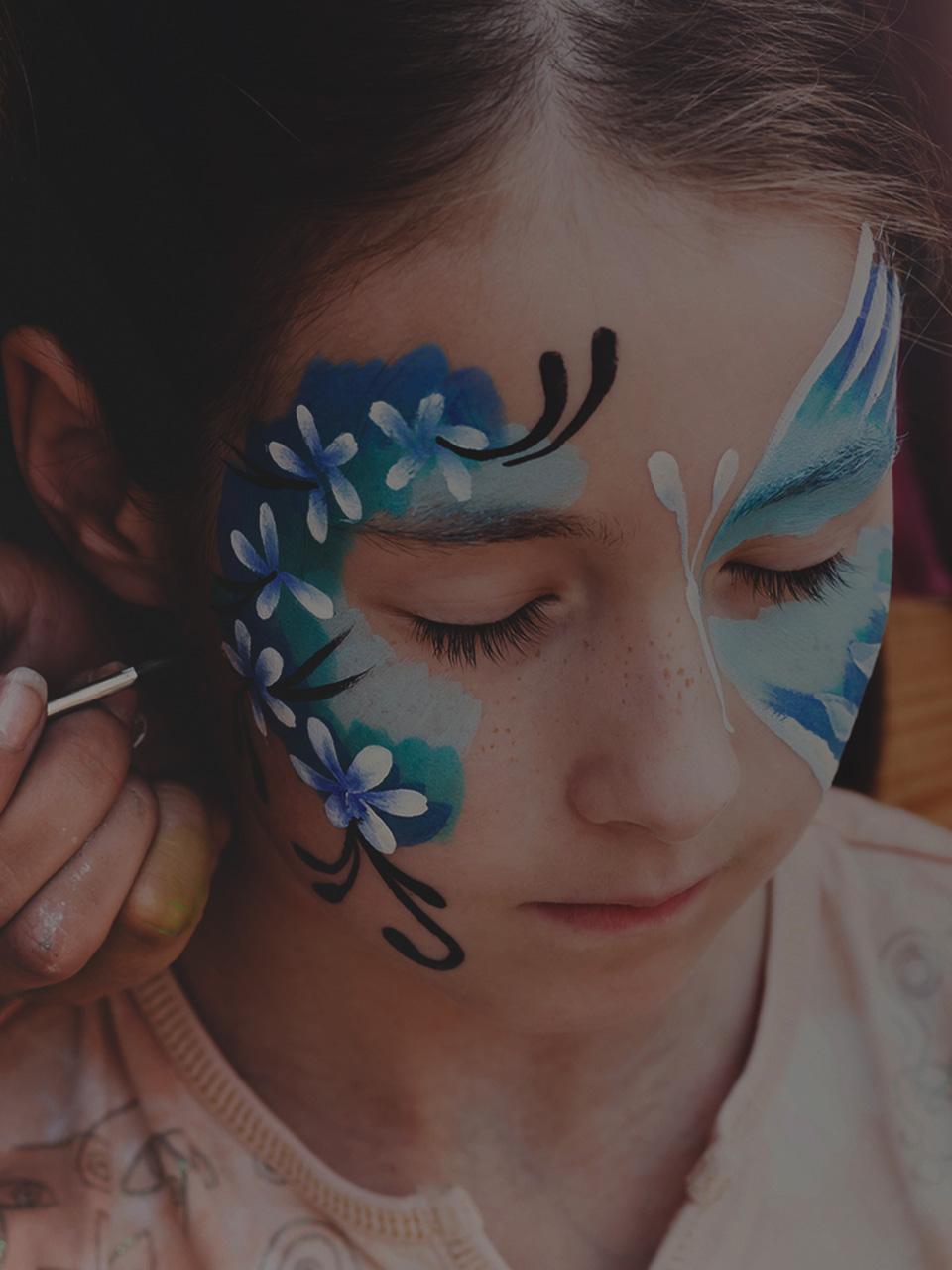 Cute Cheek Art Designs For Face Painting